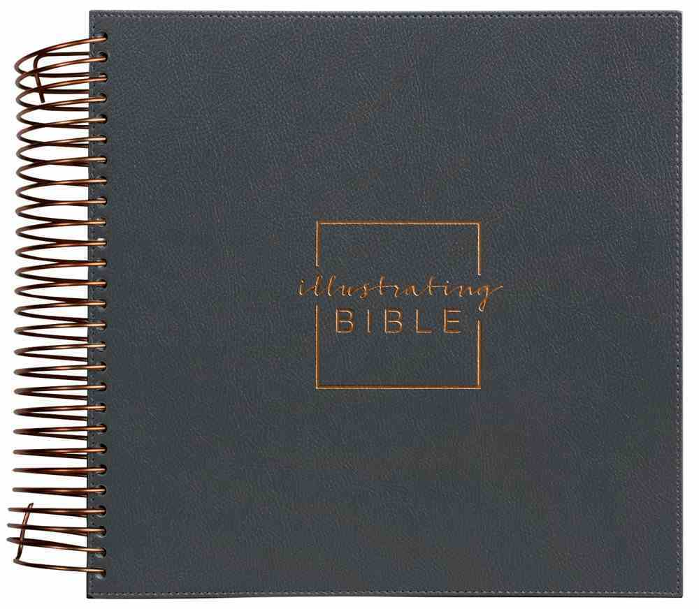 NIV Illustrating Bible Dark Gray Faux Leather (Black Letter Edition) Spiral