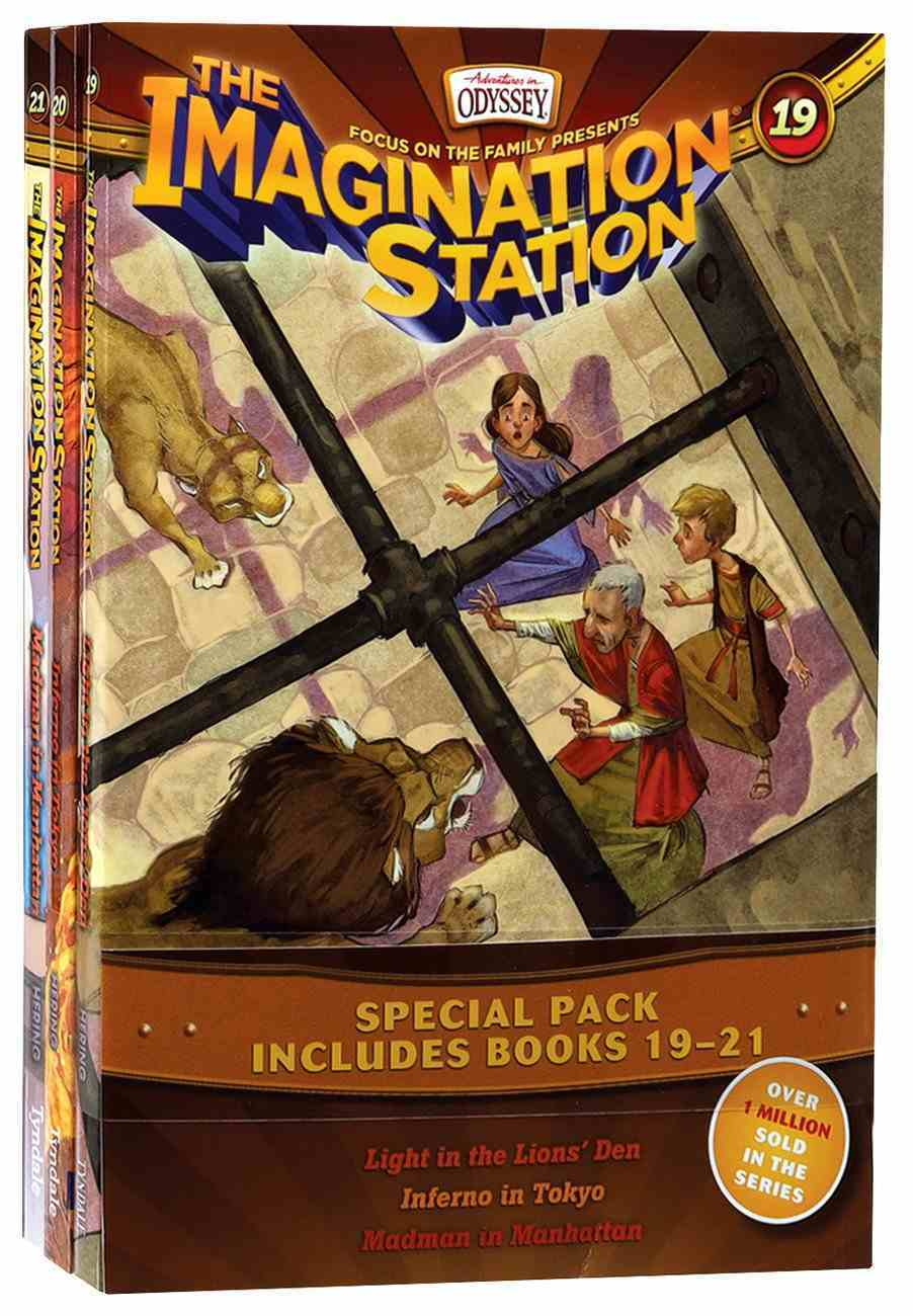 Light in the Lions' Den/Inferno in Tokyo/Madman in Manhattan (Adventures In Odyssey Imagination Station (Aio) Series) Paperback