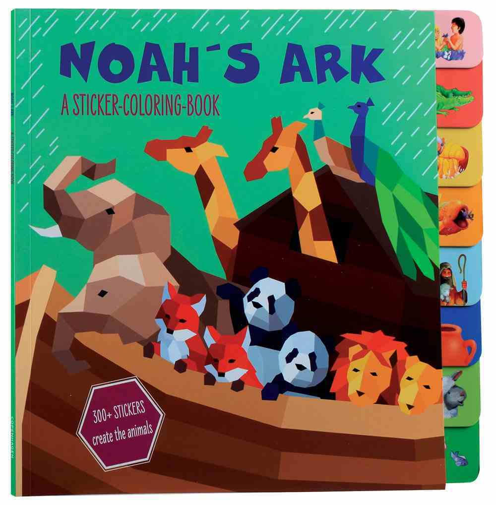 Noah's Ark: A Sticker-Coloring Book Paperback