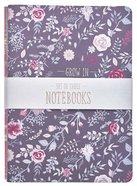 Notebook: Faith, Grace, Love, Floral Purple/Pink/Blue (Set Of 3) Paperback