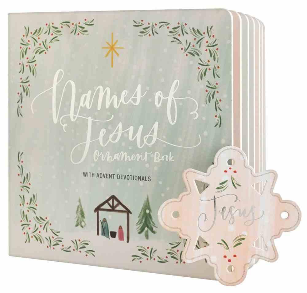 Names of Jesus Advent Ornament Book Board Book