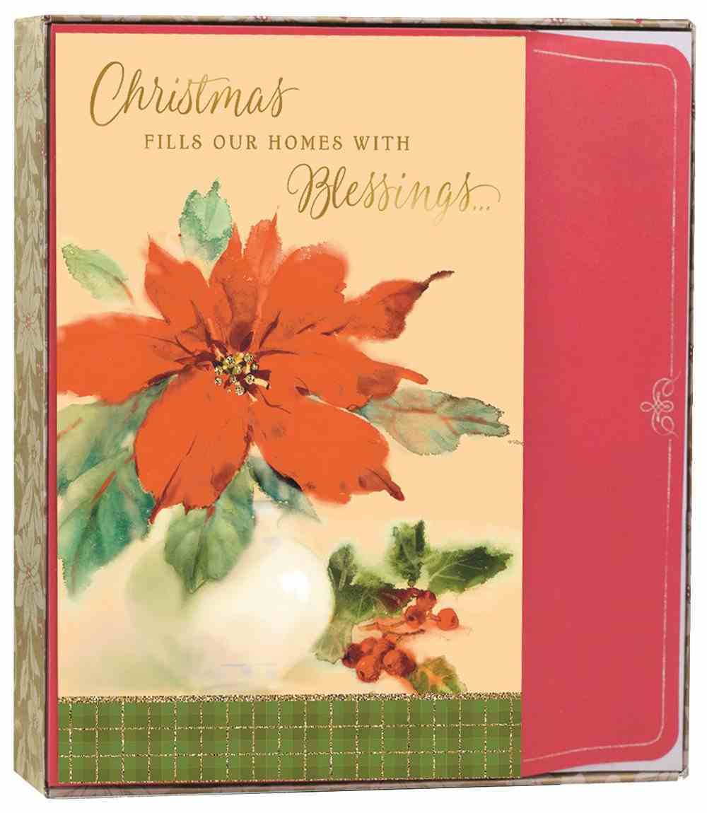 Christmas Boxed Cards: Christmas Poinsettia (Luke 2:10 Kjv) Stationery