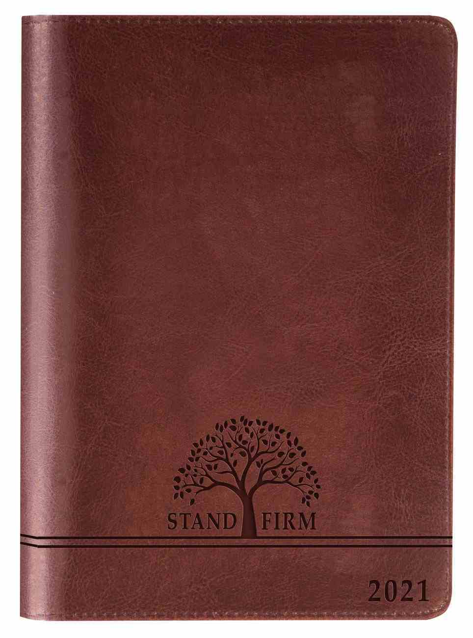 2021 12-Month Executive Diary/Planner: Stand Firm (Zippered) Imitation Leather