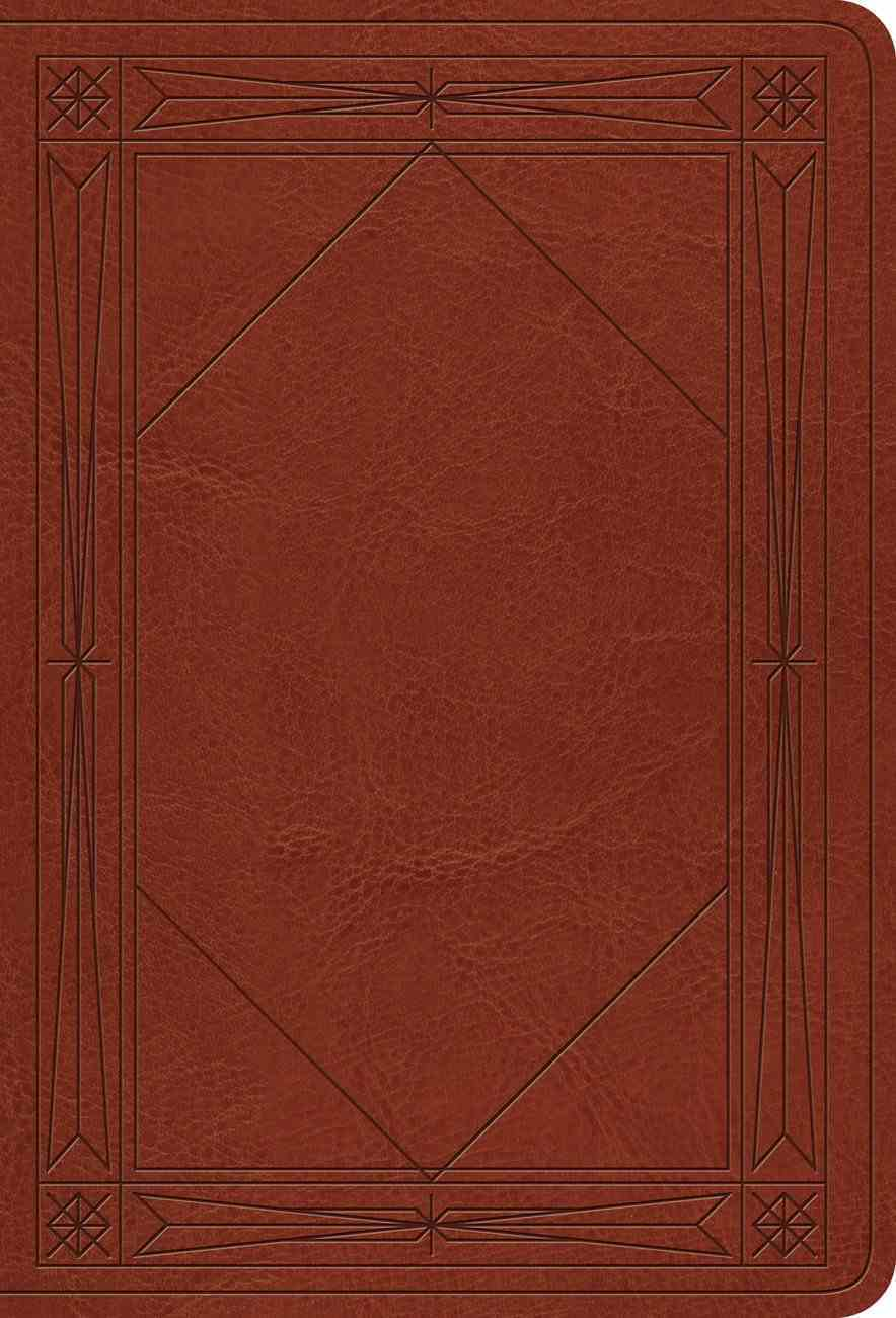 ESV Value Large Print Compact Bible Tan Window Design Imitation Leather