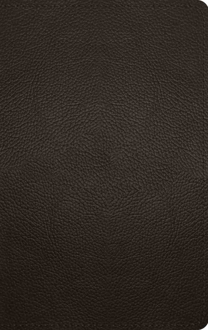 ESV Thinline Bible Deep Brown (Red Letter Edition) Genuine Leather