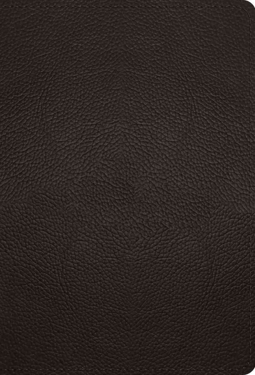 ESV Large Print Compact Bible Deep Brown (Red Letter Edition) Genuine Leather