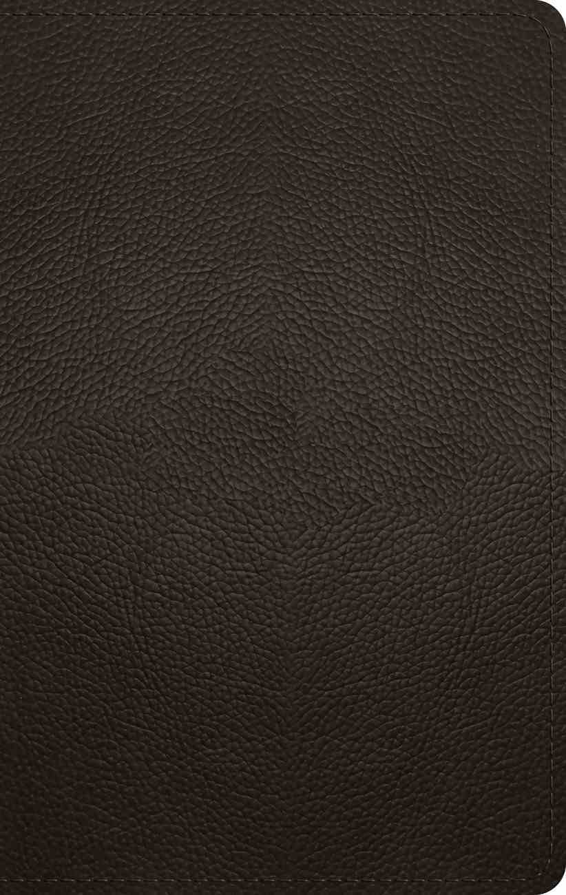 ESV Large Print Personal Size Bible Deep Brown (Red Letter Edition) Genuine Leather