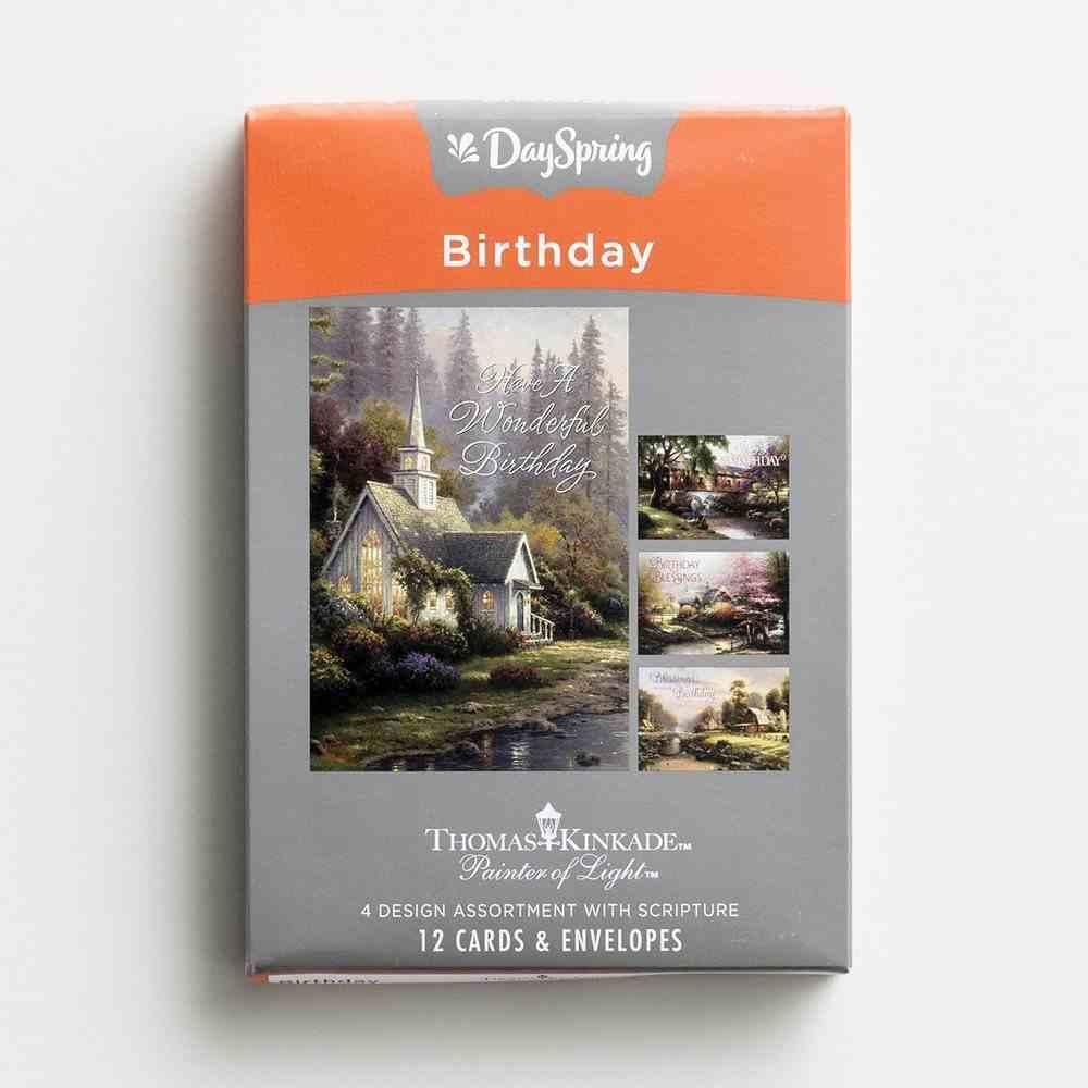 Boxed Cards Birthday: Thomas Kinkade, Painter of Light Box