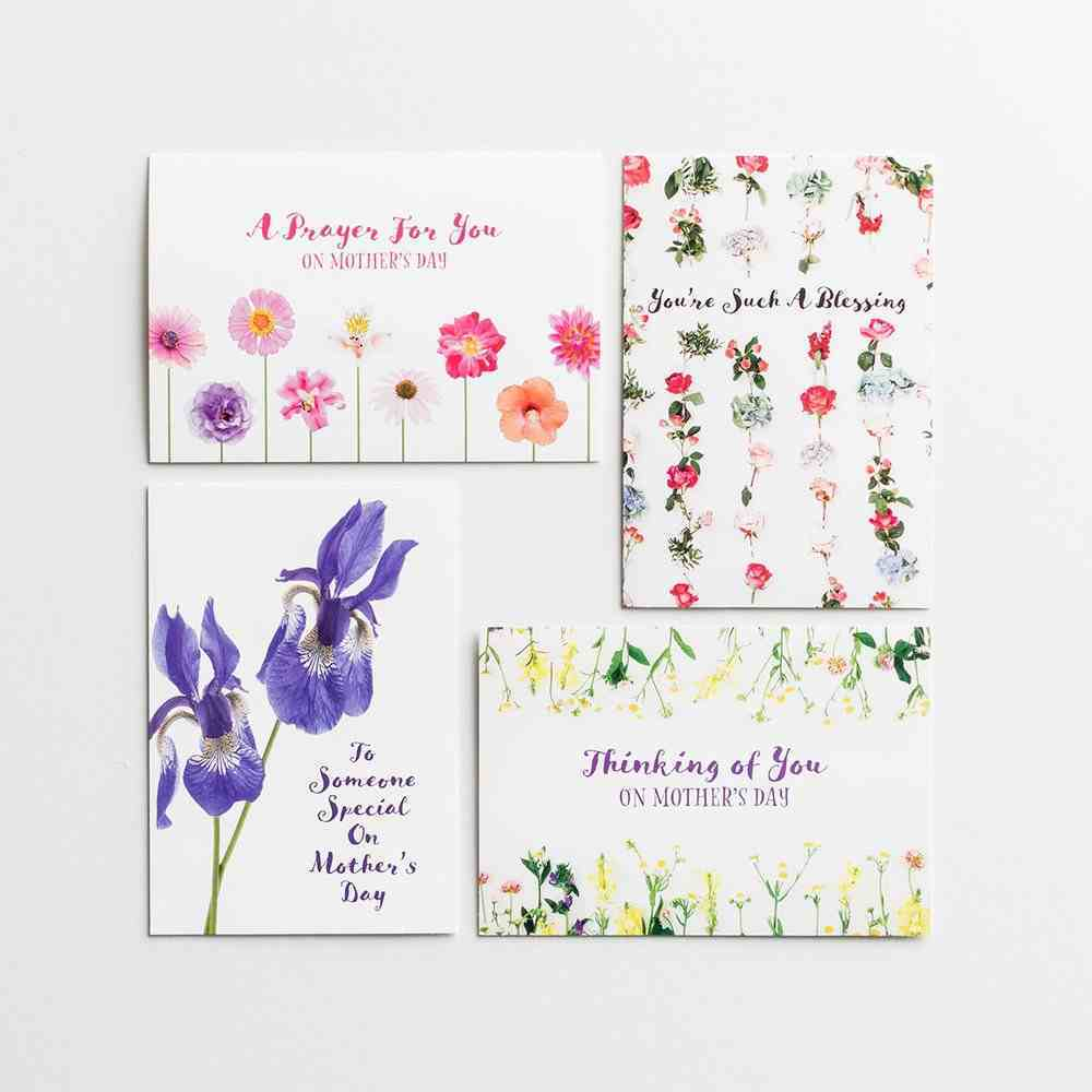Boxed Cards Mother's Day: 24-Count Assortment, Mixed Scripture Text Box