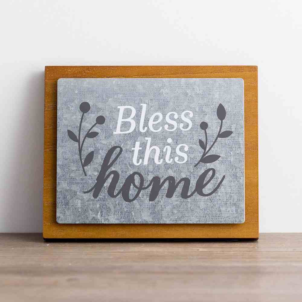 Wall Decor: Bless This Home Plaque