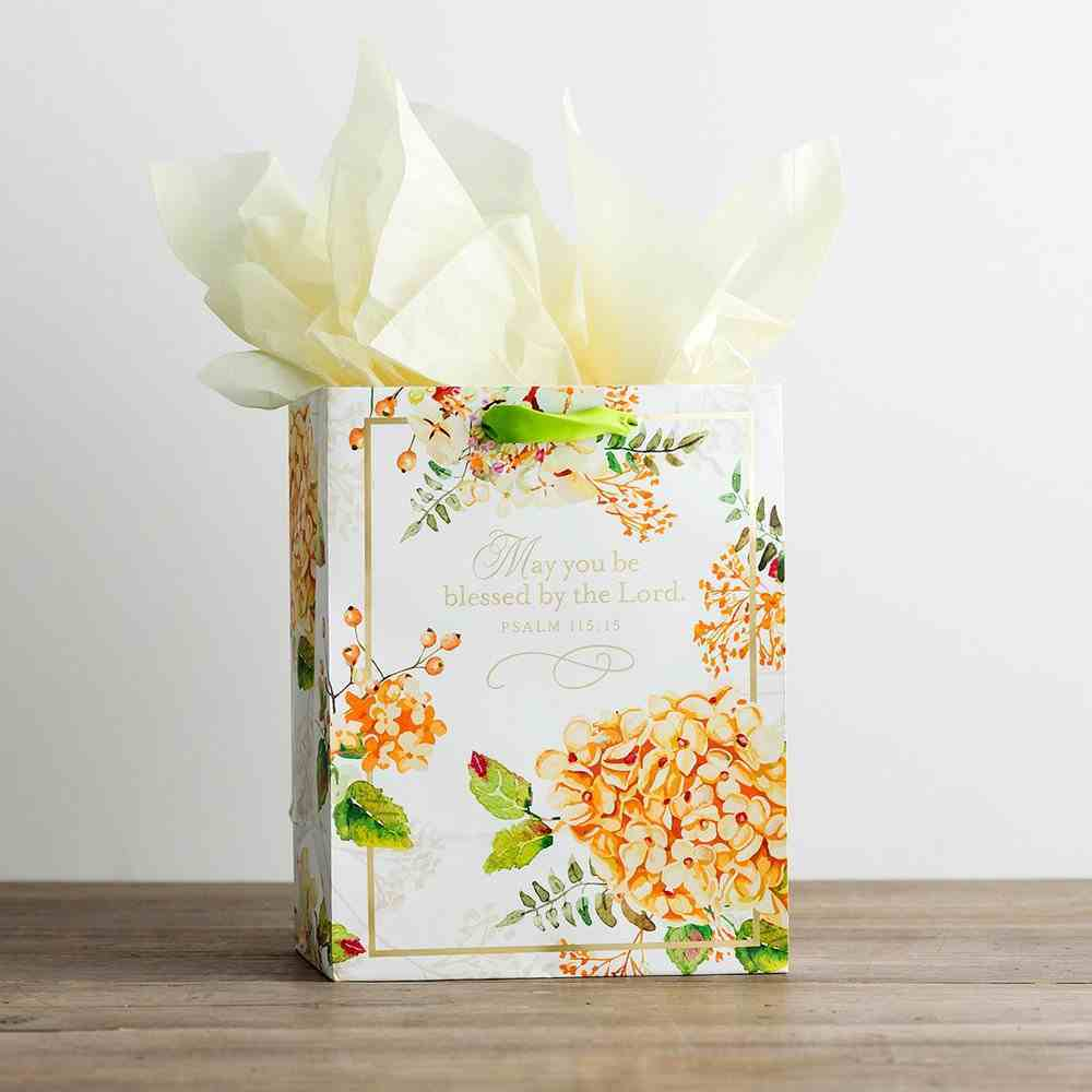 Gift Bag Medium: Hydrangeas (Incl Two Sheets Tissue Paper & Gift Tag) Stationery