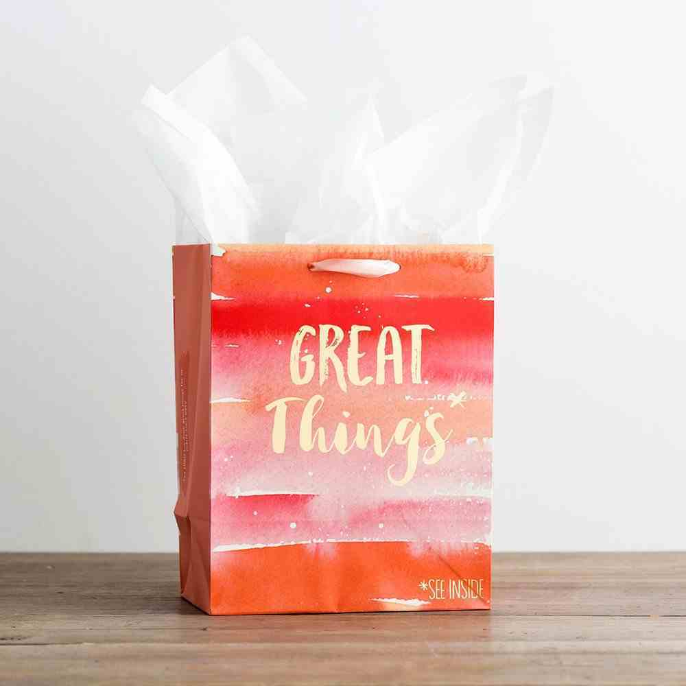 Gift Bag Medium: Great Things (Incl Two Sheets Tissue Paper & Gift Tag) Stationery