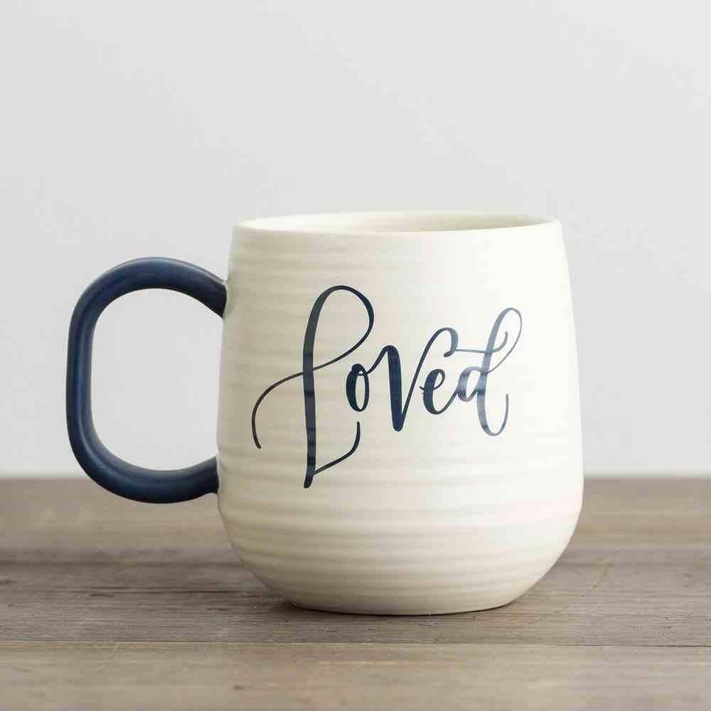 Ceramic Mug: Loved, Cream/Black (Lamentations 3:22) Homeware