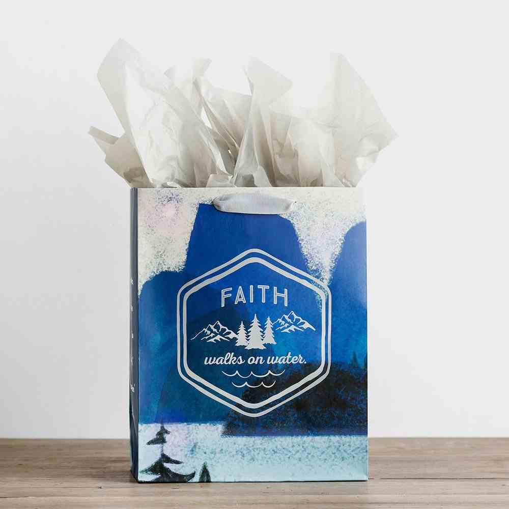 Gift Bag Large: Faith Walks on Water (Incl Two Sheets Tissue Paper & Gift Tag) Stationery