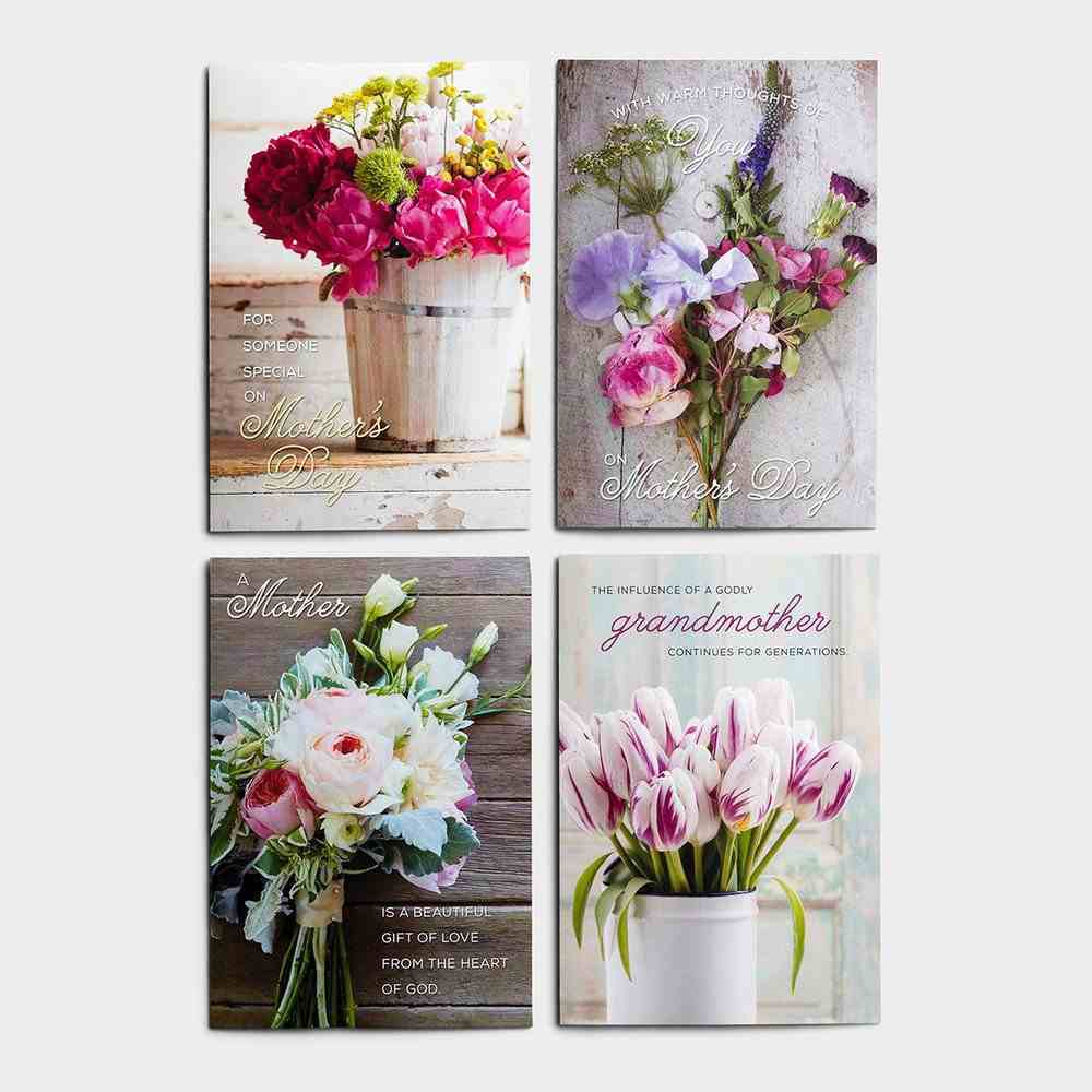 Boxed Cards Mother's Day: Floral Bouquets, KJV Scripture Box