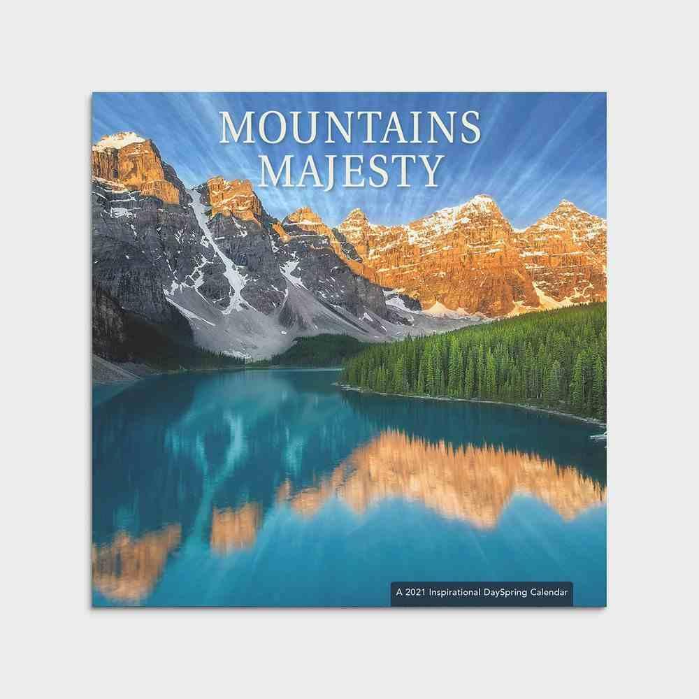 2021 Standard Wall Calendar: Mountains Majesty Calendar