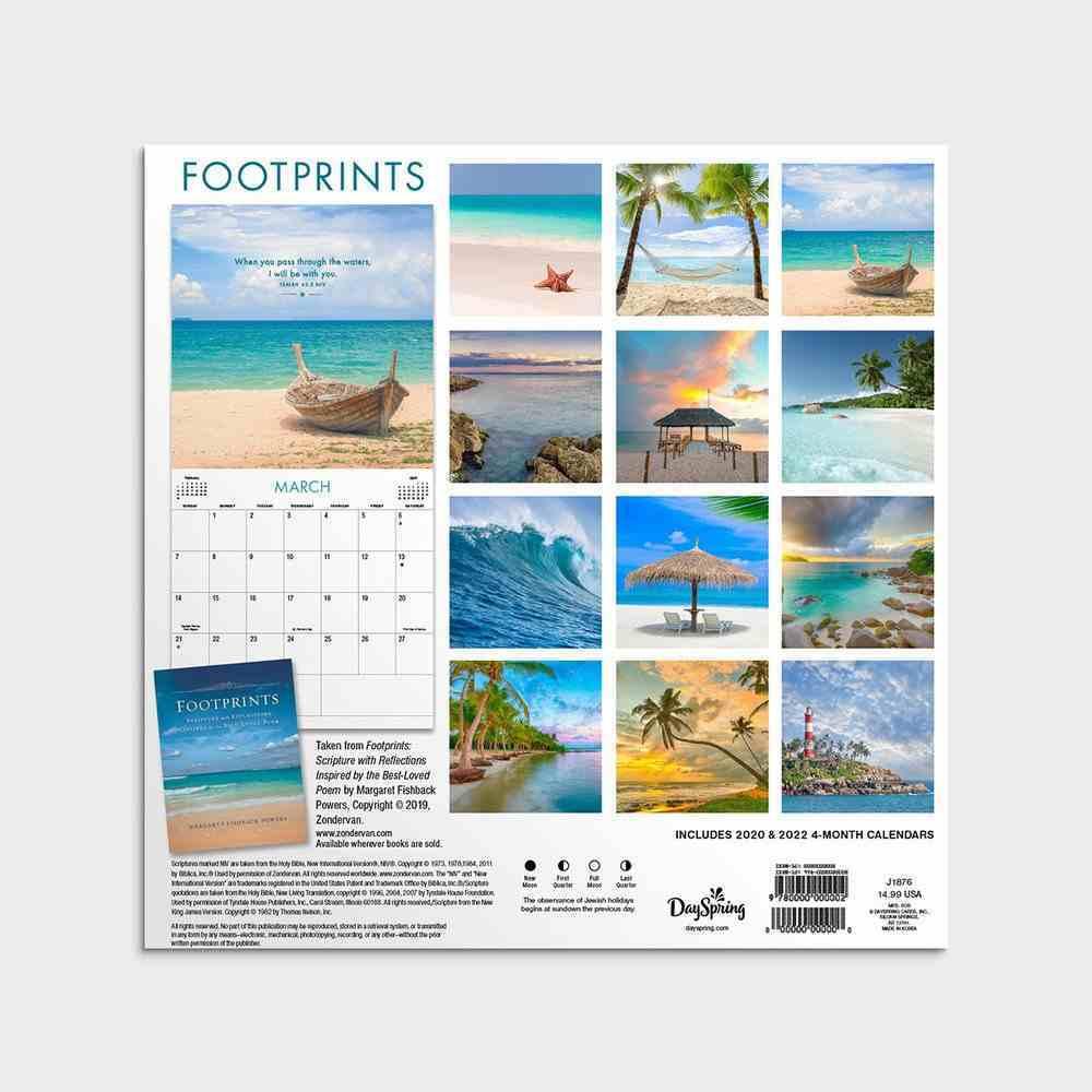 2021 Standard Wall Calendar: Footprints Calendar