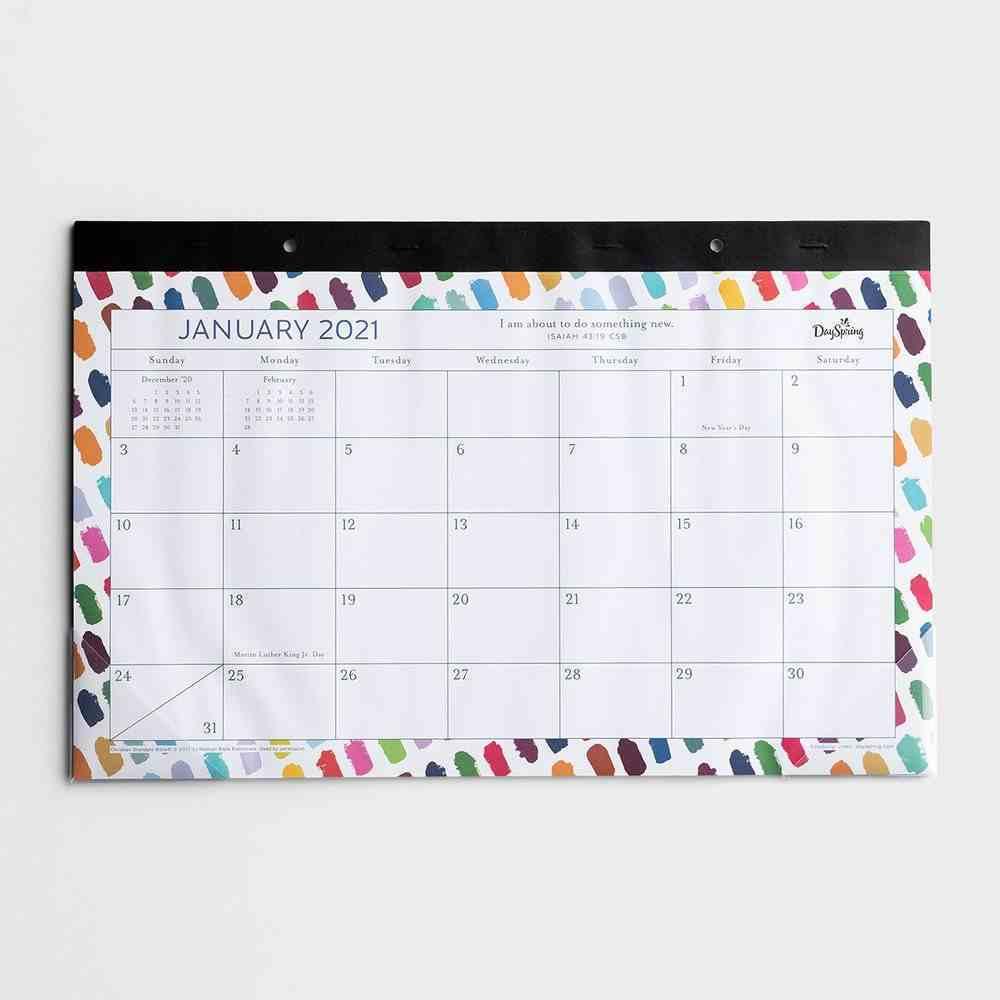 2021 Desk Pad: Brushstroke Calendar