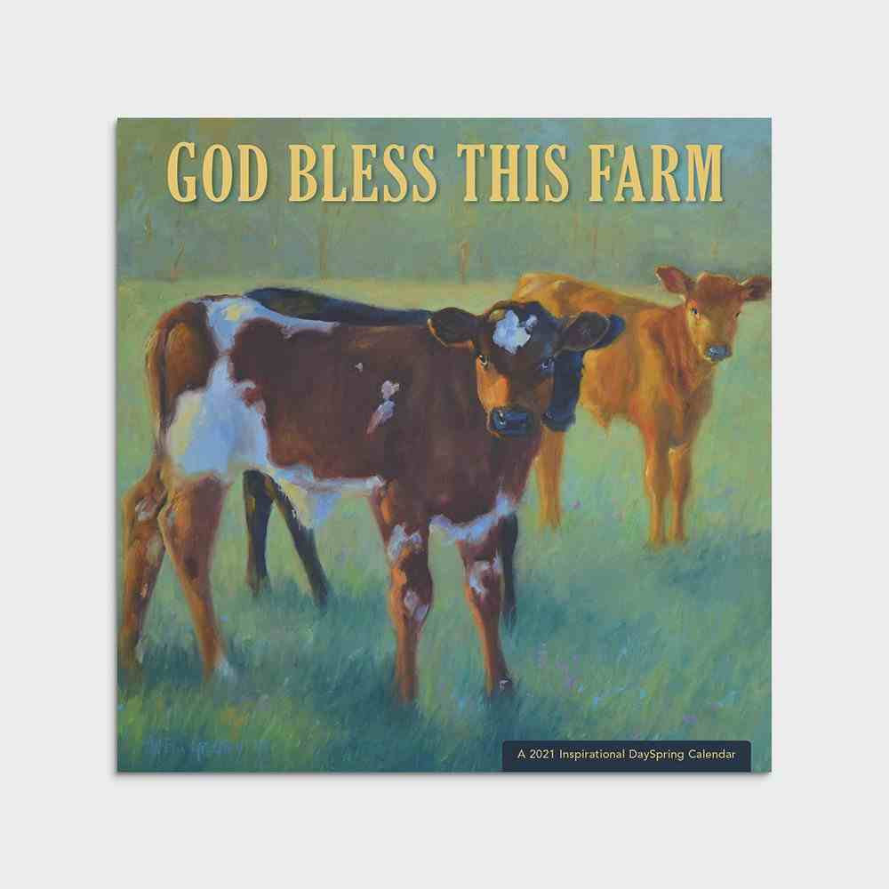 2021 Standard Wall Calendar: God Bless This Farm Calendar