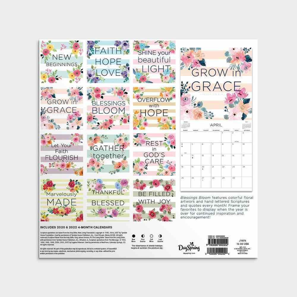 2021 Standard Wall Calendar: Blessings Bloom Calendar