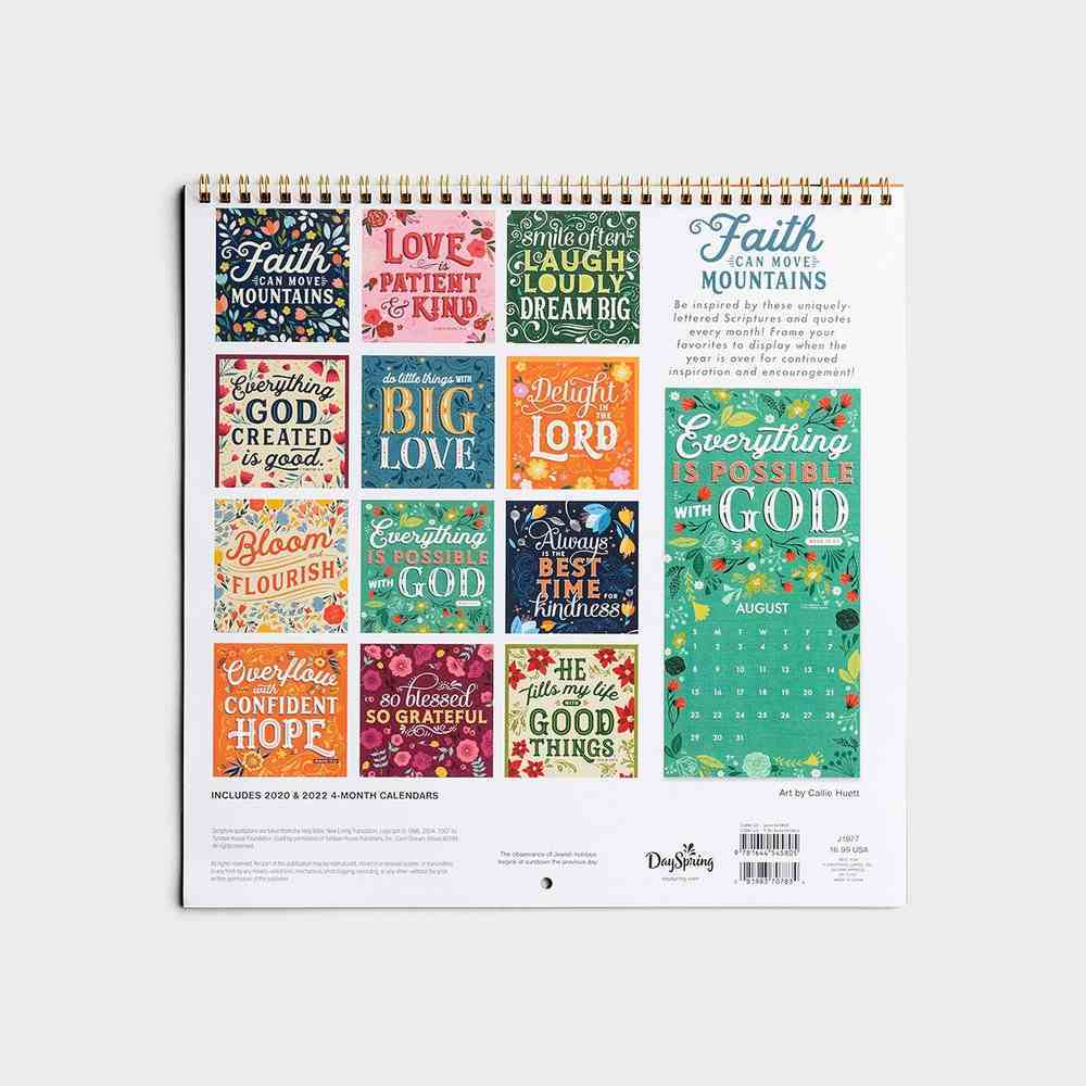 2021 Premium Spiral Wall Calendar: Faith Can Move Mountains Spiral