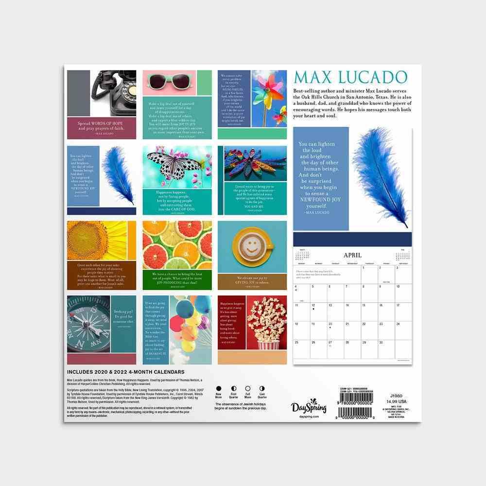 2021 Standard Wall Calendar: How Happiness Happens (Max Lucado) Calendar