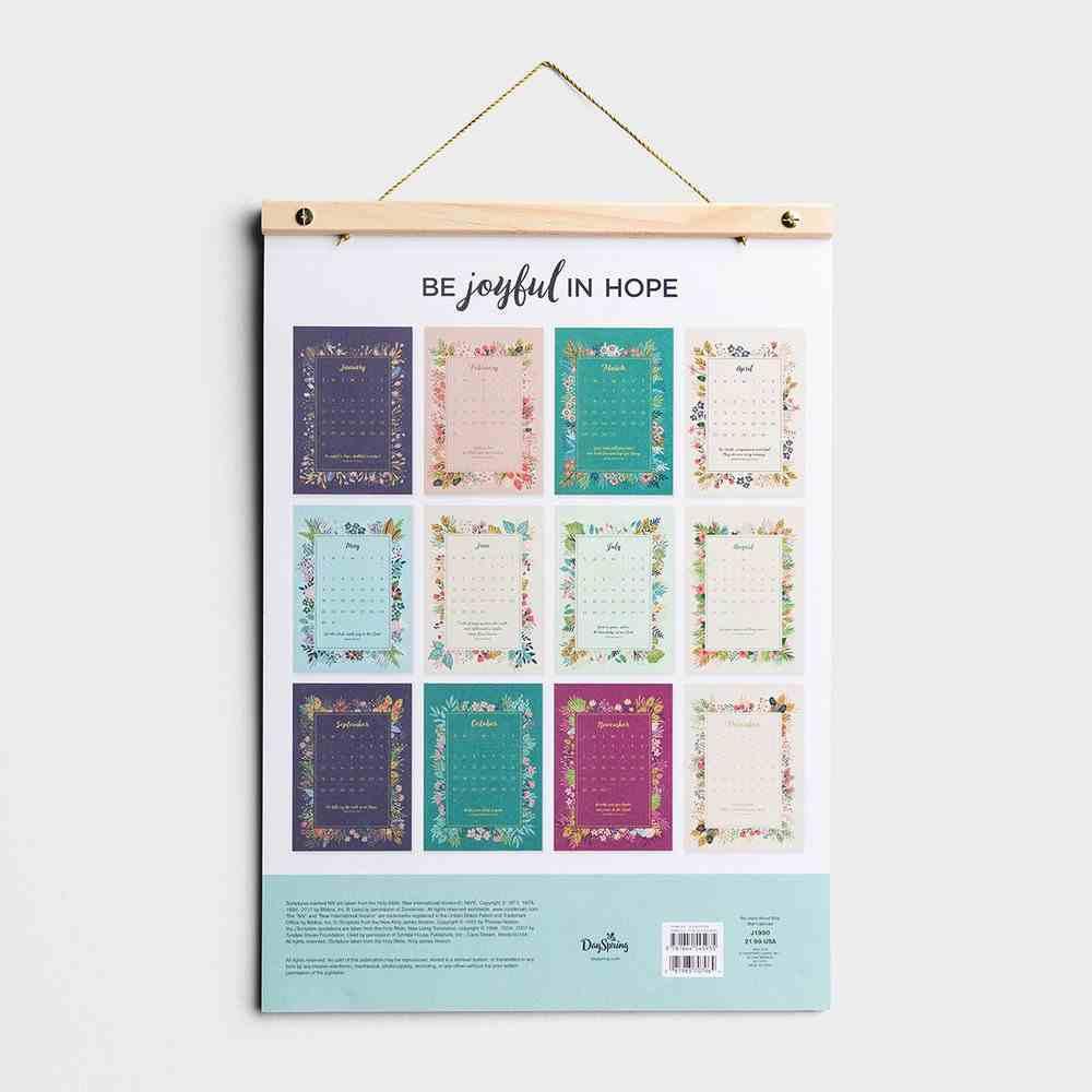 2021 Wood Strip Wall Calendar: Be Joyful in Hope Calendar