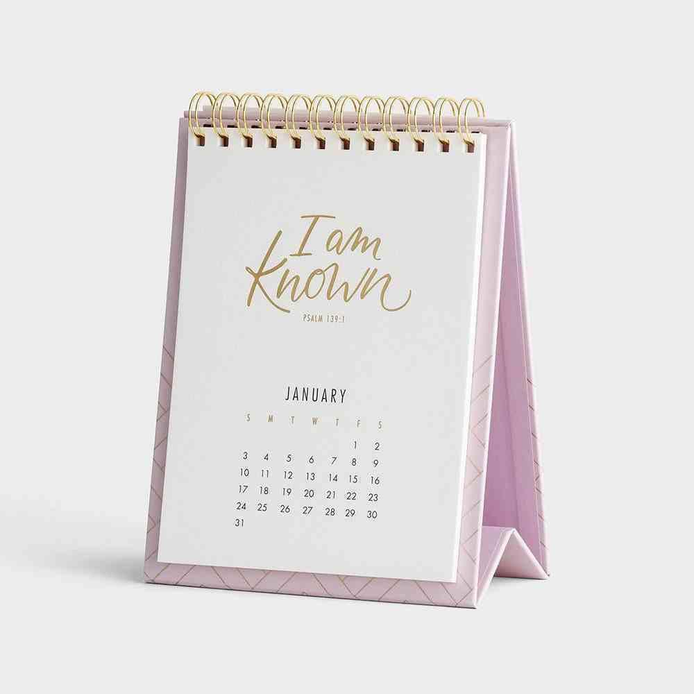 2021 Desktop Calendar: I Am Known Spiral