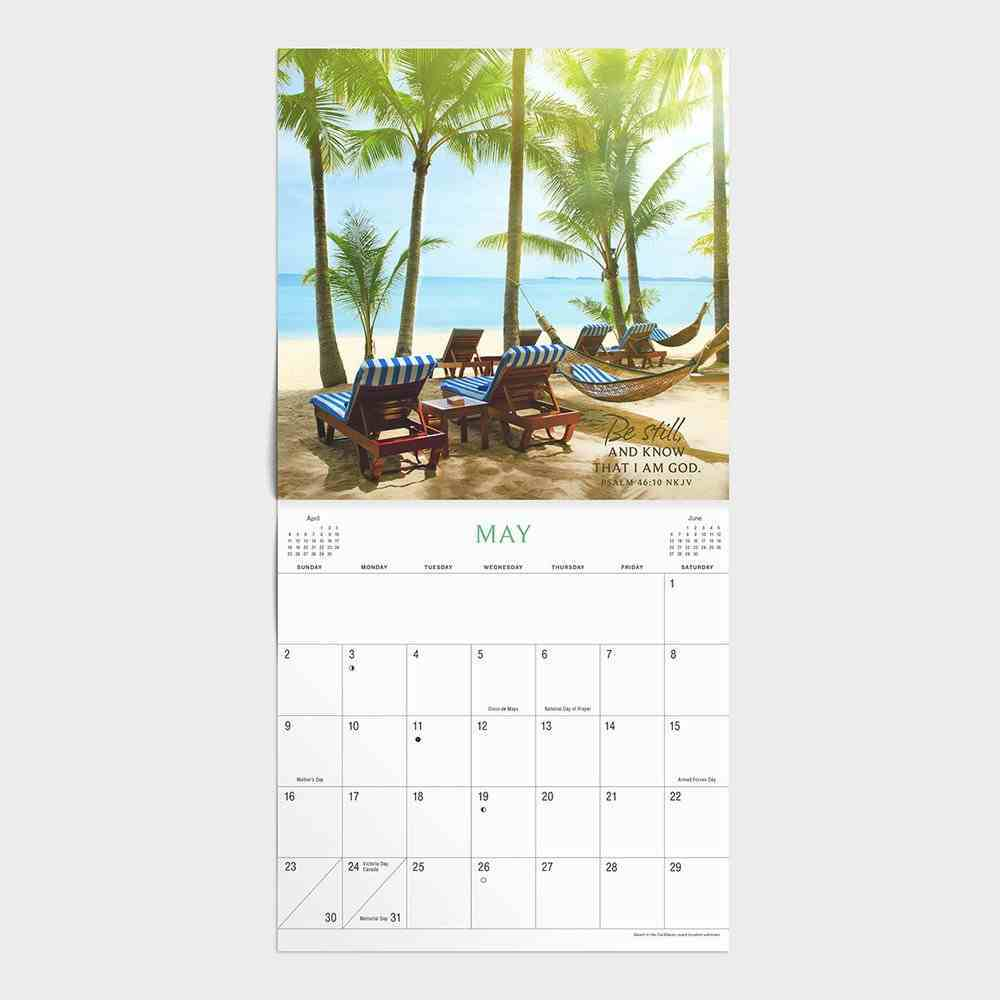 2021 Mini Wall Calendar: Waves of Peace Calendar