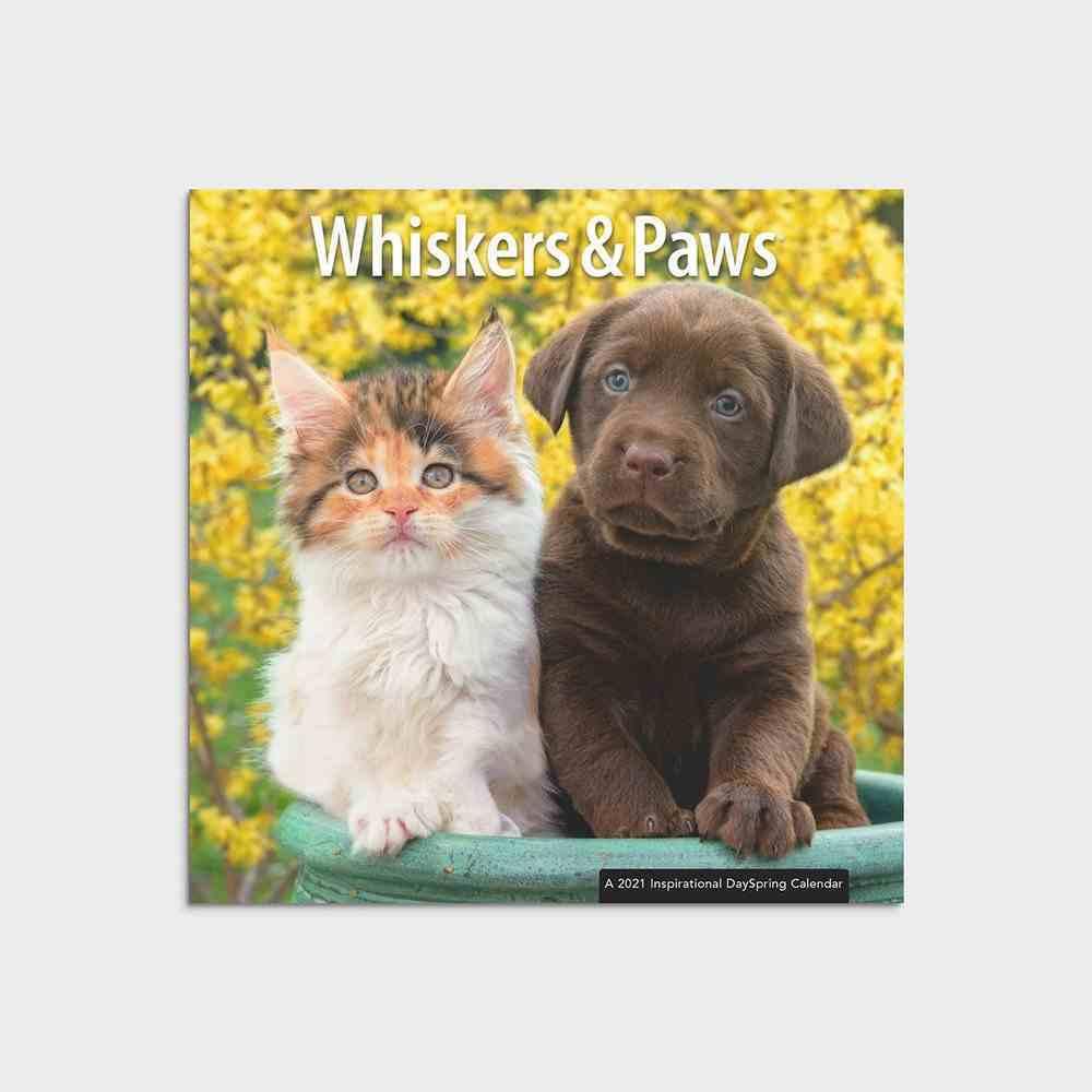 2021 Mini Wall Calendar: Whiskers & Paws Calendar