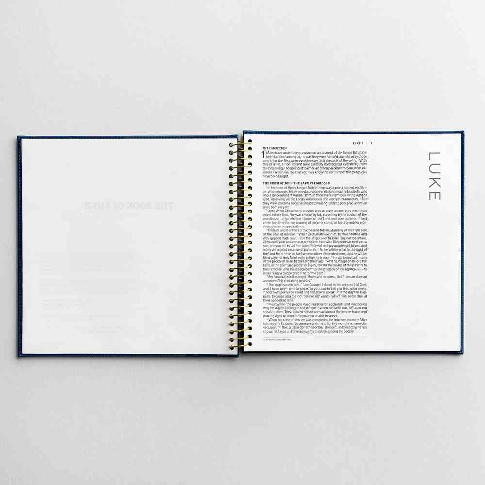 NIV Illustrating Bible Book of Luke With Navy Faux Leather Large Print (Black Letter Edition) Spiral