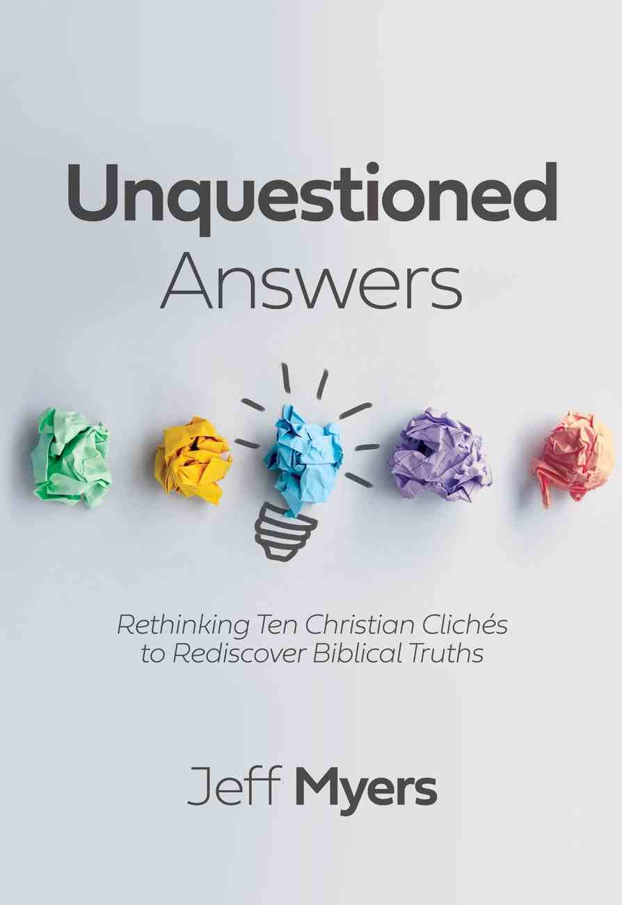 Unquestioned Answers eBook