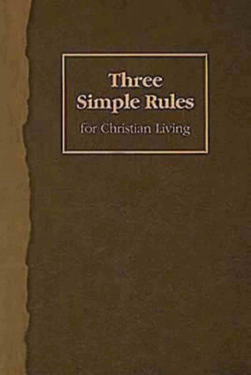 Three Simple Rules For Christian Living Student Book eBook