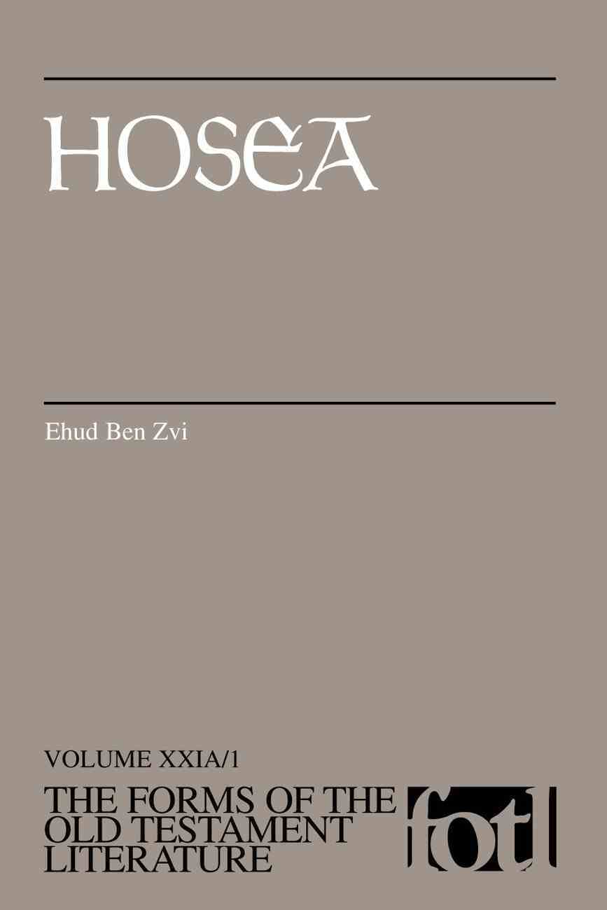 Hosea (#21A in Forms Of The Old Testament Literature Series) Paperback