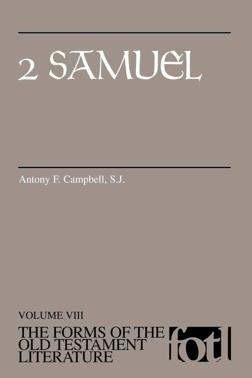 2 Samuel (Forms of the Old Testament Literature) (#08 in Forms Of The Old Testament Literature Series) Paperback