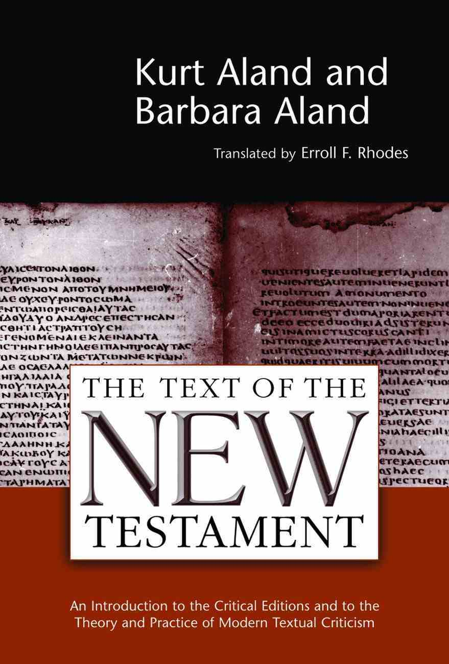 Text of the New Testament Paperback