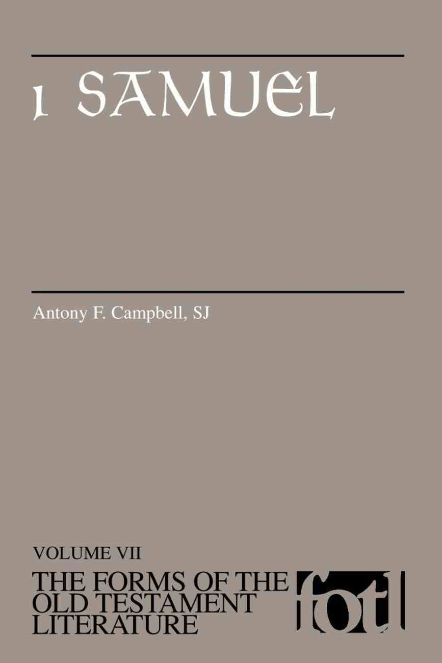 1 Samuel (Forms of the Old Testament Literature) (#07 in Forms Of The Old Testament Literature Series) Paperback