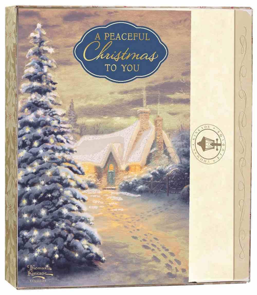 Christmas Boxed Cards: Thomas Kinkade a Peaceful Christmas to You (Is 9:6 Kjv) Stationery
