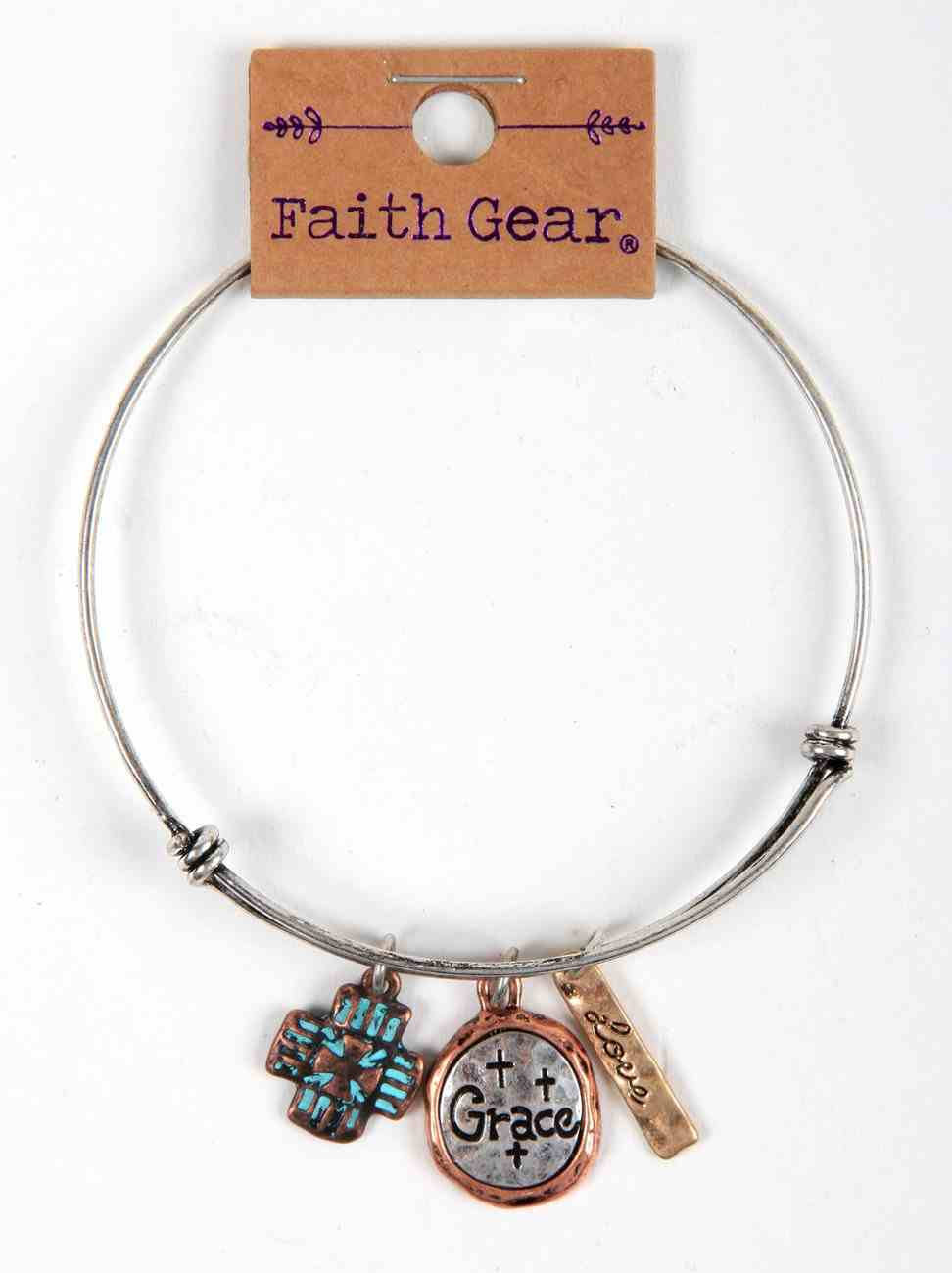 Women's Faith Gear Bracelet: Grace, Silver Wire Jewellery