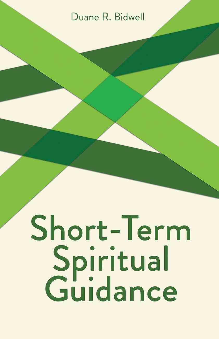 Short-Term Spiritual Guidance (Creative Pastoral Care And Counseling Series) Paperback