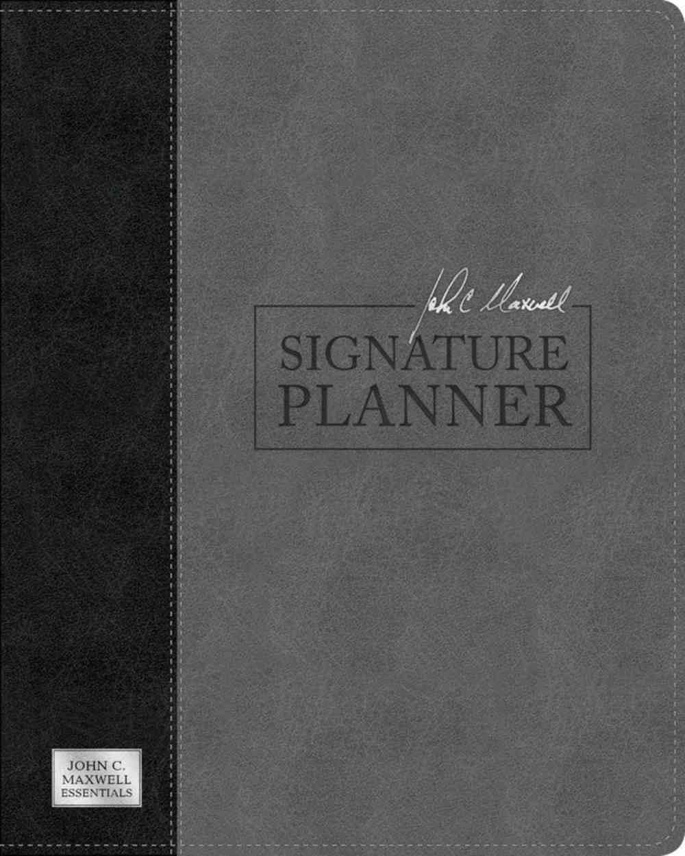 Undated Diary/Planner: John C. Maxwell Signature Planner Gray/Black Imitation Leather