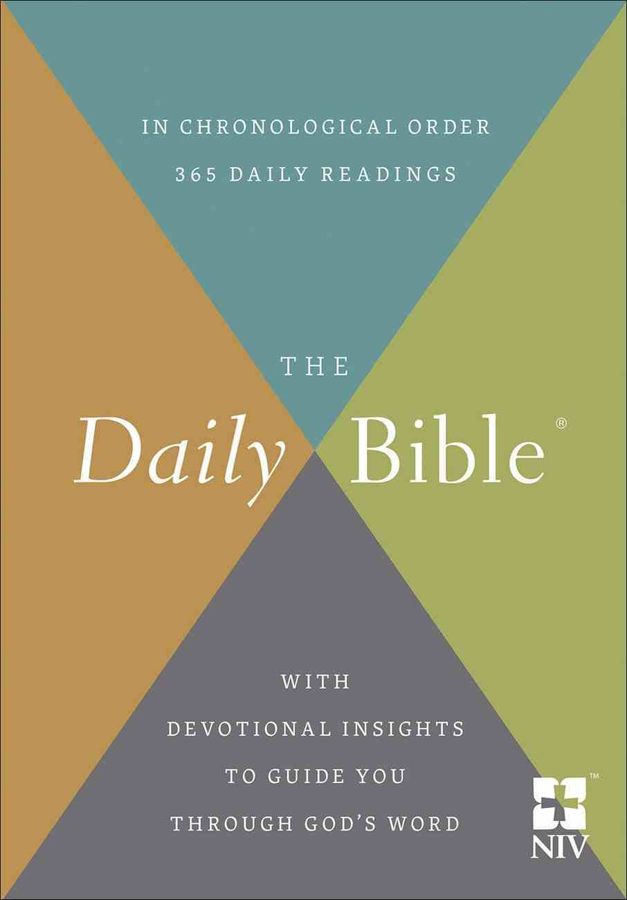 The NIV Daily Bible in Chronological Order Hardback