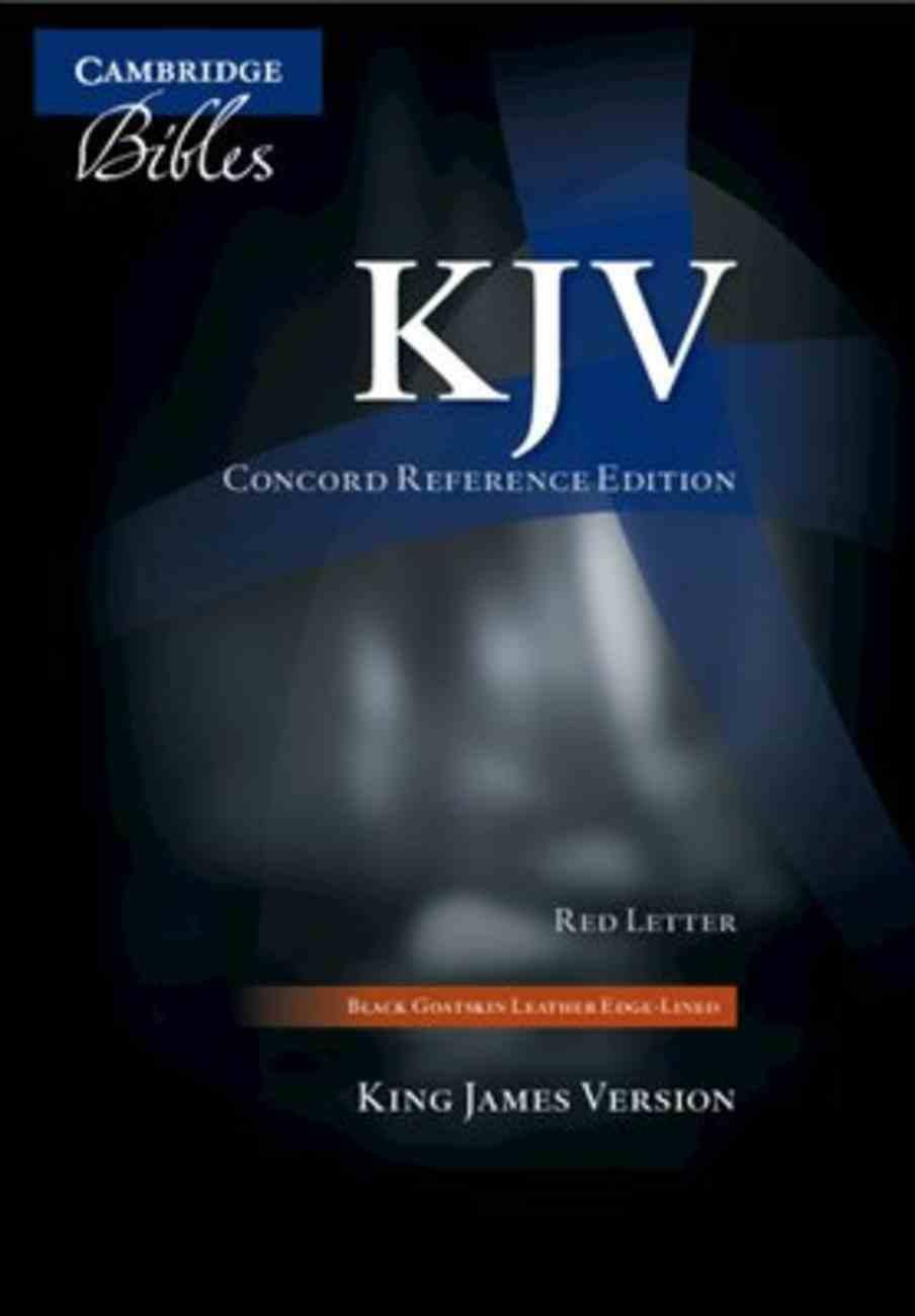 KJV Concord Reference Bible Black Moroccan Morocco Leather (Sheepskin)