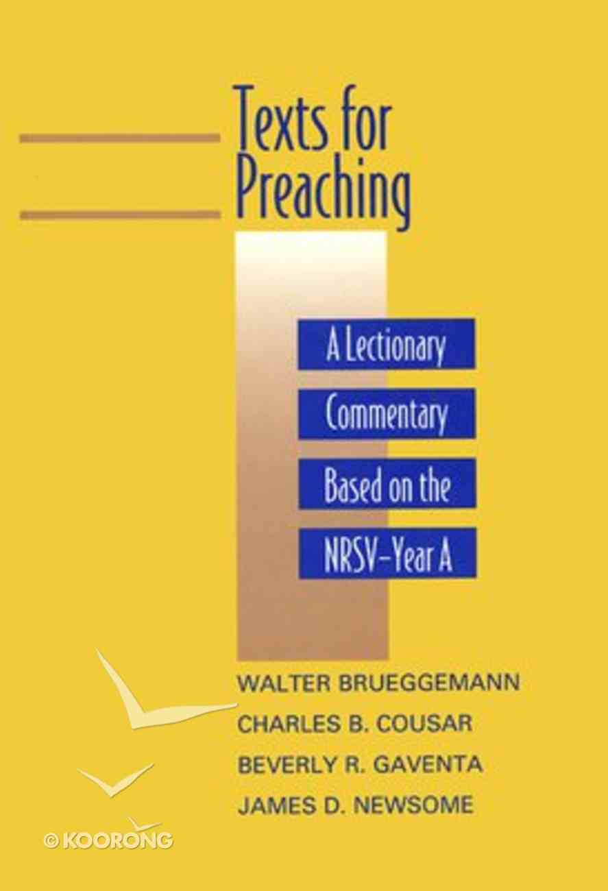 Texts For Preaching (Year A) Hardback