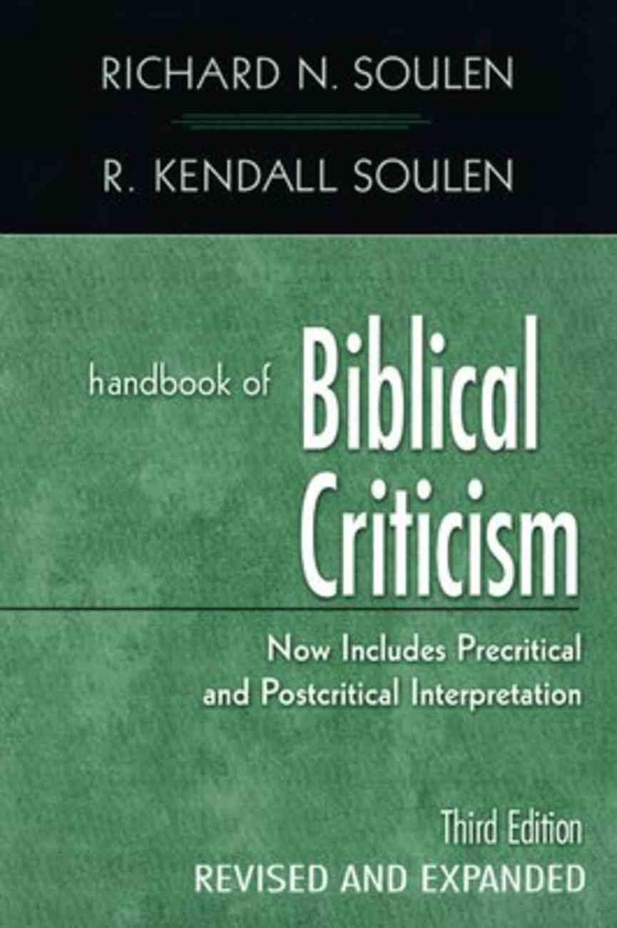 Handbook of Biblical Criticism (3rd Edition) Paperback