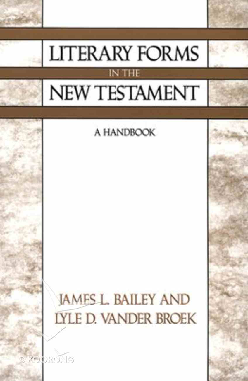 Literary Forms in the New Testament Paperback