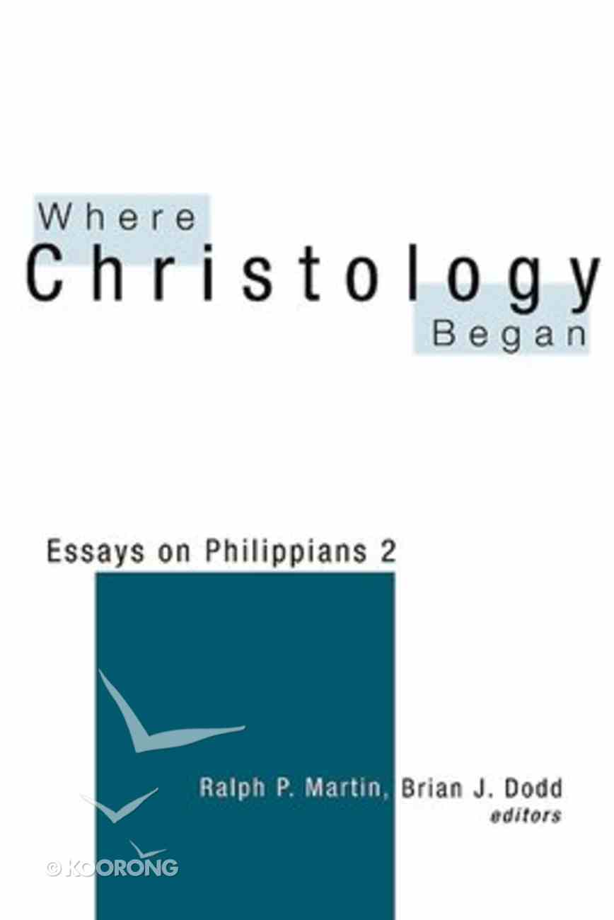 Where Christology Began Paperback