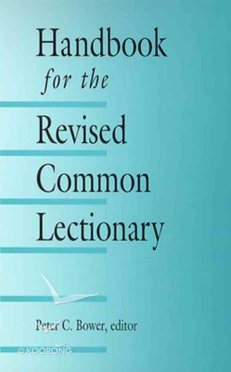 Handbook For the Revised Common Lectionary Paperback