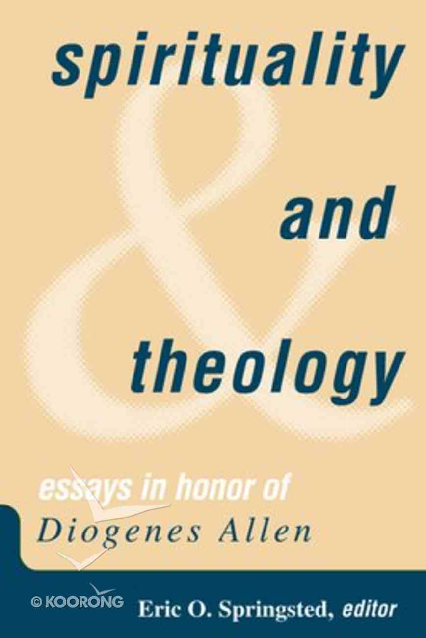 Spirituality and Theology Paperback