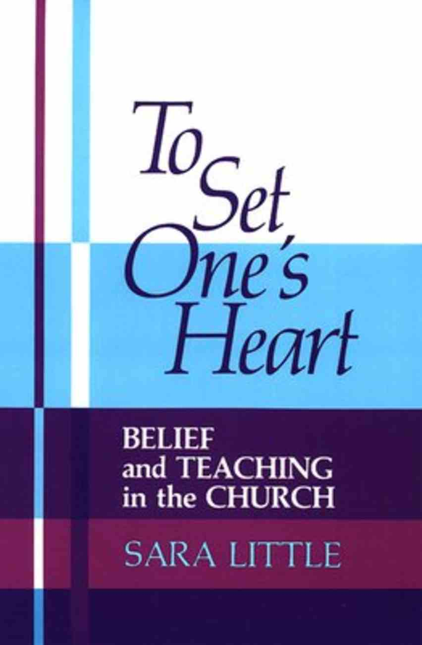 To Set One's Heart Paperback